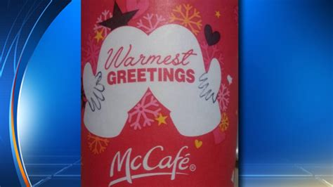 McDonald's coffee cup gets cheeky during the holidays