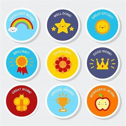 Reward Sticker Teacher Vector Clipart System Resources
