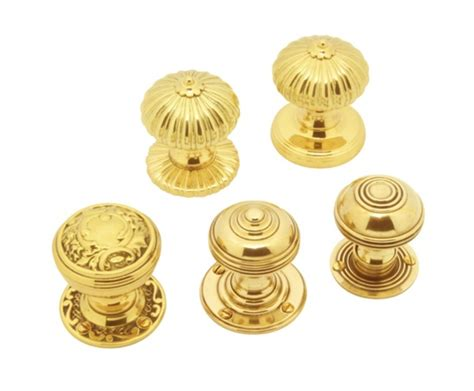 Classic Range Brass Mortice Knobs