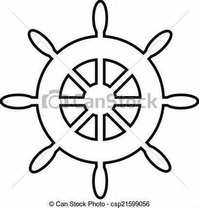 Steering Wheel Ship Clipart Icon Boat Sailing