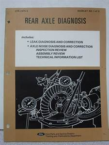 1975 Ford Rear Axle Diagnosis Manual Guide Book Reference