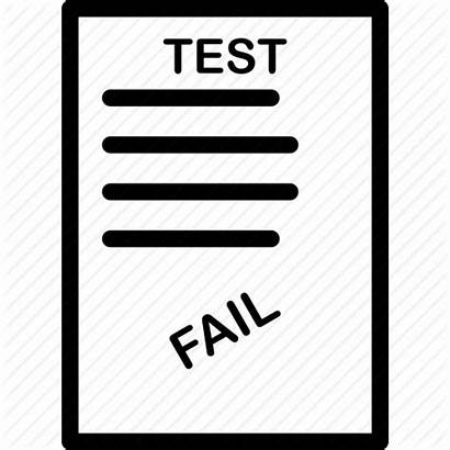 Fail Test Exam Icon Certification Attested Certified
