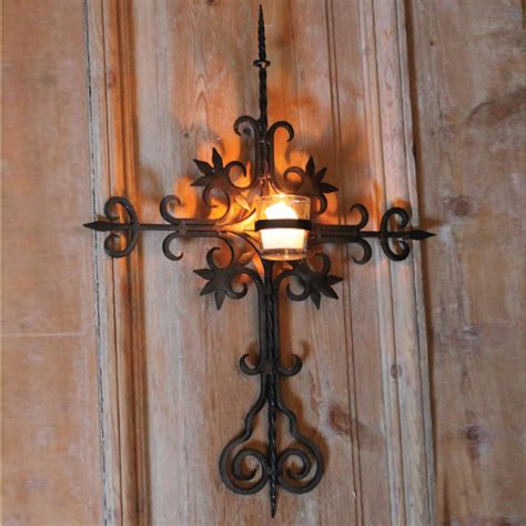 tealight wall sconce river road cross votive wall sconce sconce003