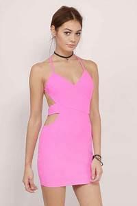 Elora Neon Pink Bodycon Dress $50 00