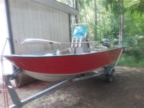 Custom Boat Covers Chilliwack by Boat 16 Ft Aluminum Duroboat Center Console West Shore