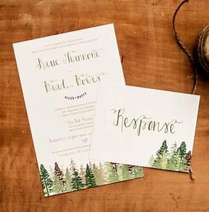 wedding invitation tree wedding invitation mountain With mountain wedding invitations etsy