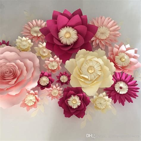 giant paper flowers leaves wall wedding wall arc