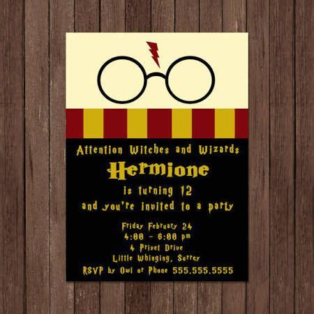 harry potter invitations google search   harry