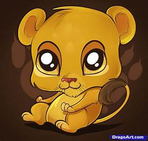 Cute Cartoon Baby Lion Drawings