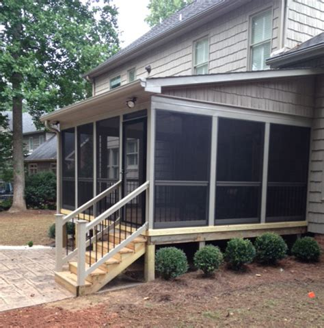 ideas screened porch plans shed roof share woodworking plans