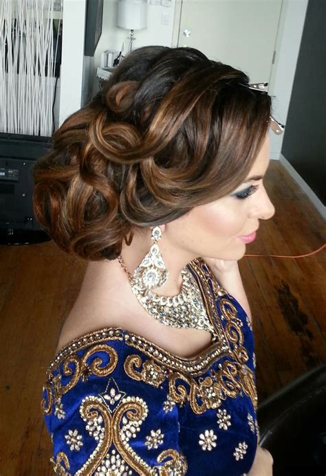 textured indian wedding updo hairstyle shadibox