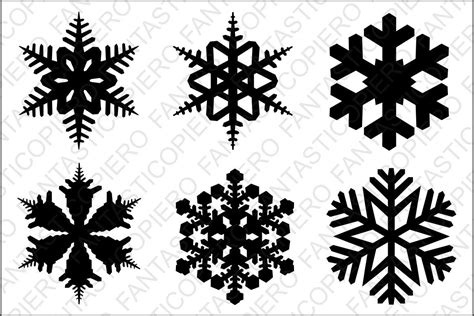 Layered circle label with 2 snowflakes. Snowflake SVG files for Silhouette Cameo and Cricut. By ...