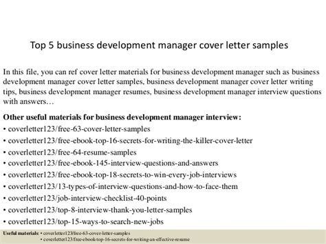 top  business development manager cover letter samples
