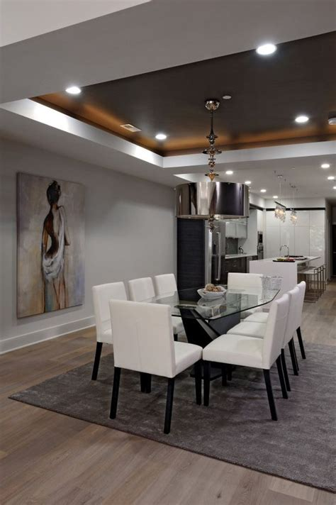 dining room with no overhead light ceiling tray lighting no chandelier in dining room tray