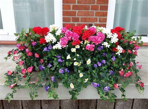 Blumen Für Den Balkon by Balkonpflanzen Fertig Im Kasten 4 Gr 246 223 En Kunstpflanze De