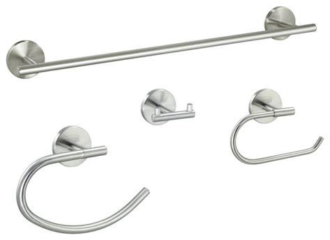 Contemporary Series Piece Satin Nickel Bathroom Hardware