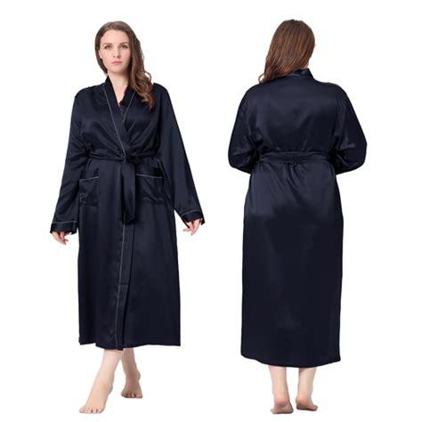 robes de chambre grandes tailles robe de chambre femme longue soie 22 momme liseré blanc