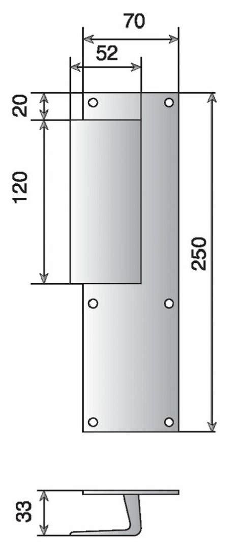dimension porte chambre poignées sur plaques pour portes palières dimensions 25 x 7 mm