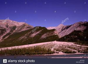 Alluvial Fan Caused By Erosion In Northern Rocky Mountains