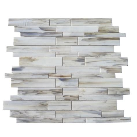 Home Depot Wall Tile Class by Splashback Tile Matchstix Halo 12 In X 12 In X 3 Mm