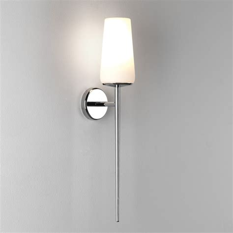 astro deauville wall light ip44 polished chrome with glass