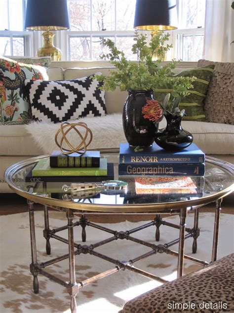 Think about including a small decorative box to store remotes. Simple Details: coffee table reveal and styling tips