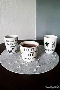 Tassen Bemalen Kinder : diy individuelle tassen bemalen zum verschenken basteln ~ Orissabook.com Haus und Dekorationen