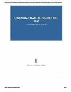 Descargar Manual Pioneer Keh 2650 By Balanc3r937