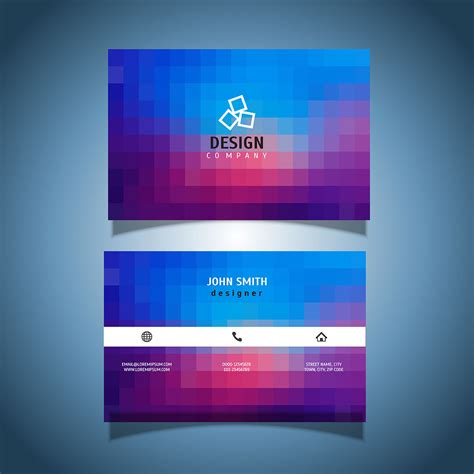 pixel design business card   vectors