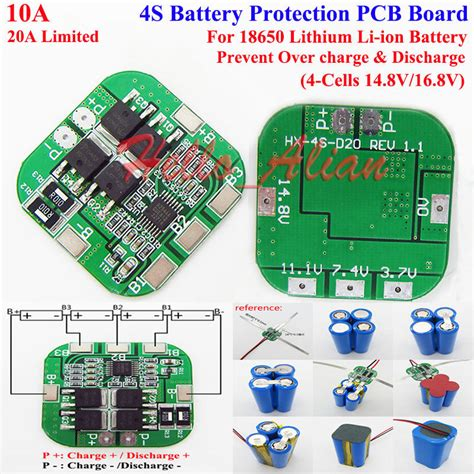 Bms Protection Board Ion Lithium Battery