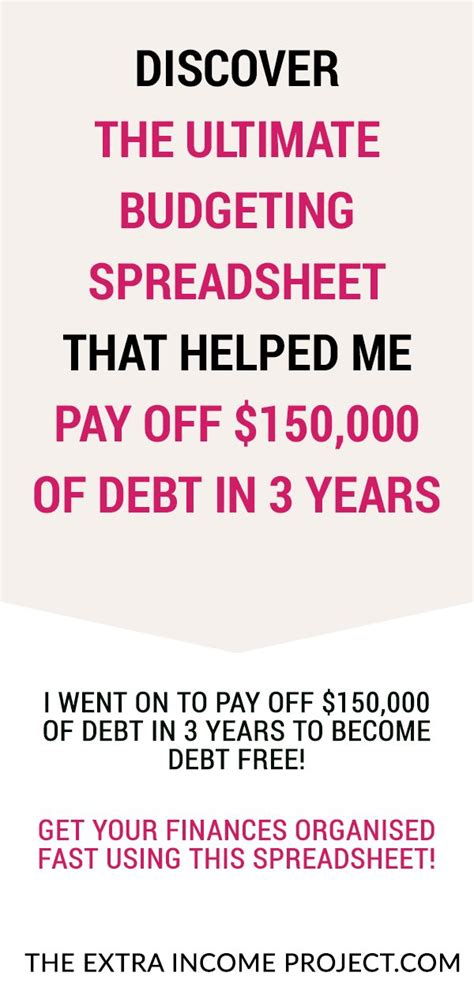 ultimate budget spreadsheet template pay  debt