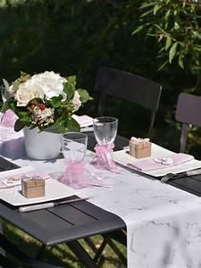 Chemin De Table Anniversaire : chemin de table marbre 3 m tres d coration anniversaire ~ Melissatoandfro.com Idées de Décoration