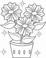 Pot Coloring Vaso Fleur Coloration Fiore Pagina Coloritura Blumentopf Drawing Flowers Draw Bloempot Kleurende Maceta Clip Livre Farbtonseite Colorante sketch template