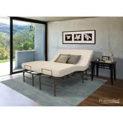 pragmatic adjustable bed frame head and foot split king