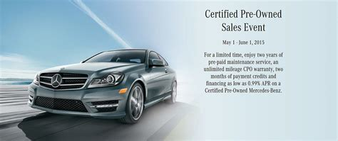 The benefits of additional coverage. Mercedes-Benz Certified Pre-Owned Event Spring 2015