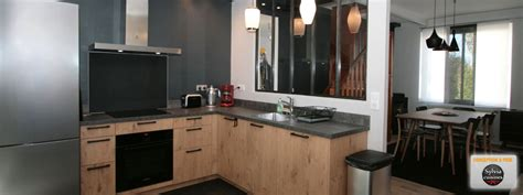 cuisinistes caen cuisine bois beton free design et conception cuisine u