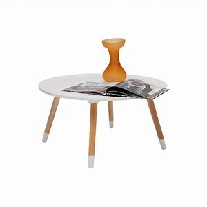 Table Basse Ronde Blanche : table basse scandinave blanche blossom kare design ~ Teatrodelosmanantiales.com Idées de Décoration