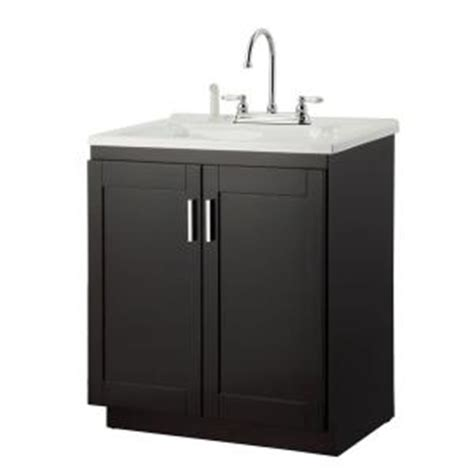 home depot utility sink kit foremost palmero 30 in laundry vanity in espresso and