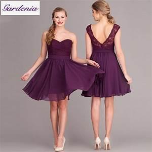 summer style elegant a line chiffon short wedding guest With purple wedding guest dress