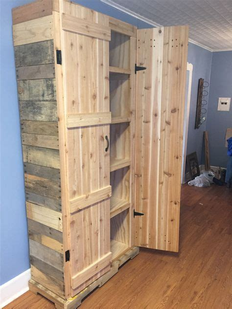 How To Make A Pantry Out Of A Bookcase how to make a pantry out of pallets hometalk