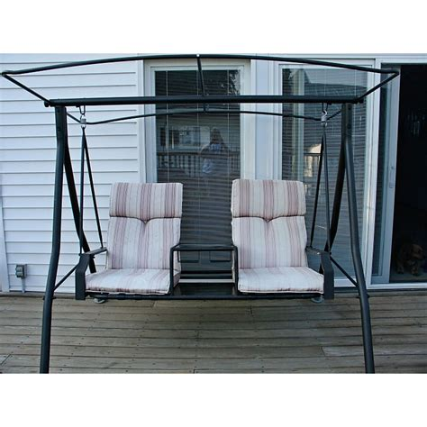 patio swings with canopy menards menards two person charleston swing replacement canopy 271