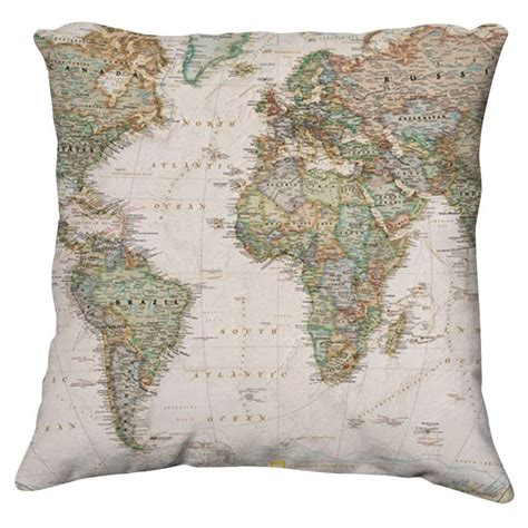 World Map Pillow By Coppice On Deviantart