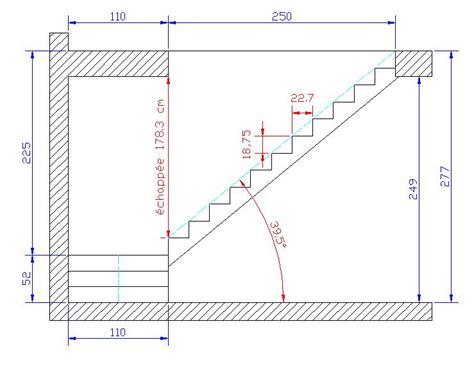 Escalier Colimaçon Dimension Minimum by Aide Dimensions Escalier 1 4 Tourant Palier