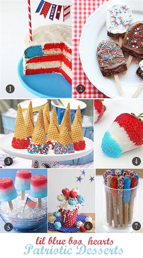 4th of july themes patriotic dessert ideas