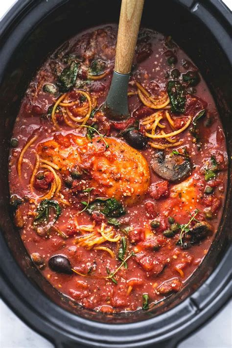 cooker slow chicken recipes cacciatore healthy crockpot easy recipe food italian baked lecremedelacrumb meals popsugar lemon budget dinner creme crumb
