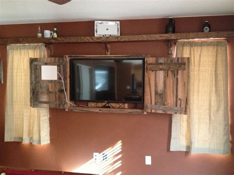 ideas  rustic tv cabinets tv stand ideas