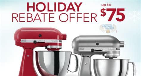 Kitchenaid Rebates Up To $75 Holiday Rebate Offer