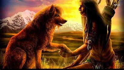 Native American Wolf Desktop Wallpapers Fantasy Cool