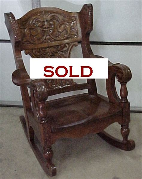 the best carved oak rocking chair