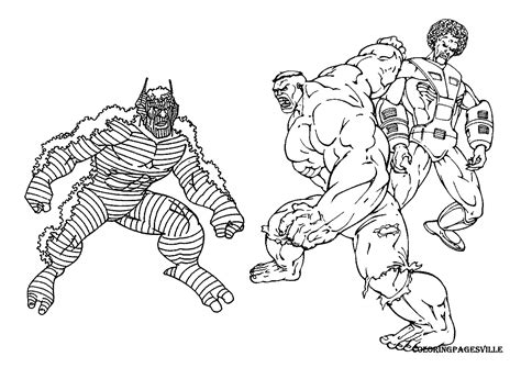 Red Hulk Coloring Pages Coloring Home